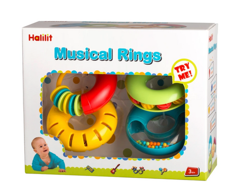 Musical Rings Educational Musical Toys Set by By Halilit