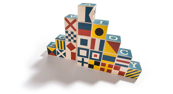 Uncle Goose Nautical Block Set with Canvas Bag - Bloxx Toys - Toronto Online Toys Store - 5