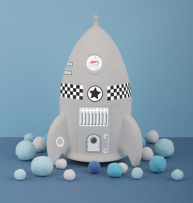 Nightlight Rocket By Little Lovely -Bloxx Toys-Toronto toys, toy, Canada, Decor, Room Decor, Autism Toys, Ontario toys, Quebec toys, Children Toys,Kids Toys,Educational toys, Online Toys Store Canada