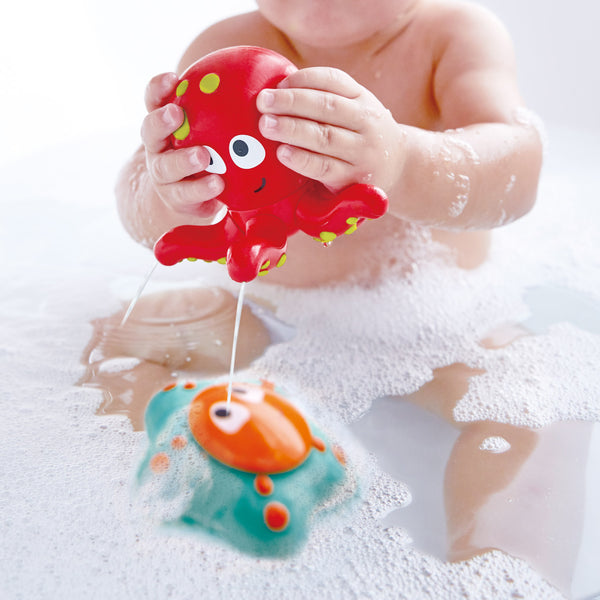 Ocean Floor Squirters By Hape  Educational Bath Toys