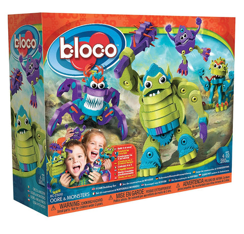 Ogre & Monsters Foam Blocks By Bloco - Bloxx Toys - Toronto Online Toys Store - 1