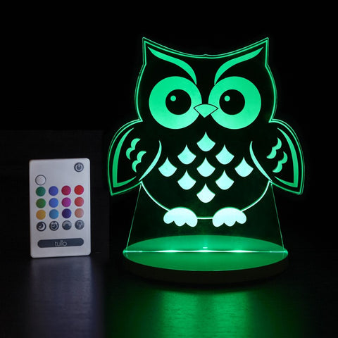 Owl Multi Coloured LED Night Light By Tulio Dream Lights - Bloxx Toys - Toronto Online Toys Store - Canada