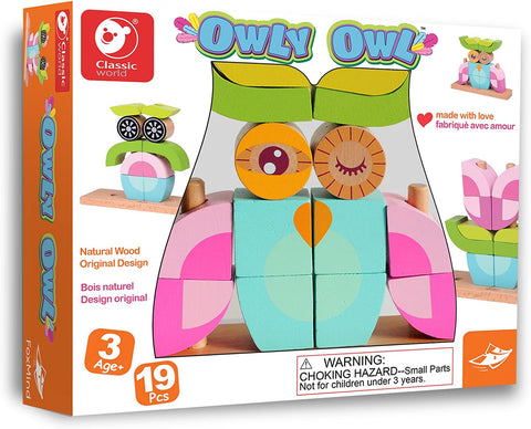 Owly Owl Unique Block Game By Foxmind  BloxxToys Canada