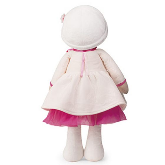 PERLE Tendresse Soft XL white and pink Doll Toy -By Kaloo Vancouver