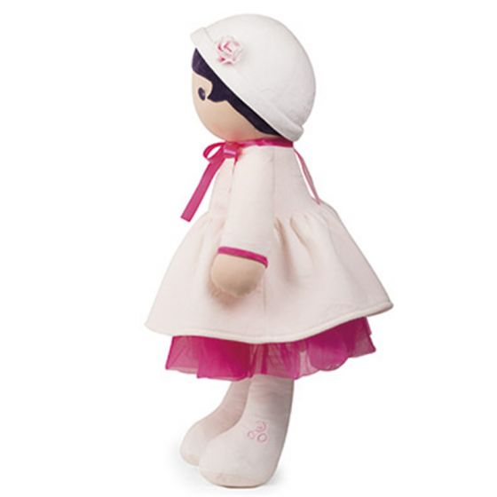 PERLE Tendresse Soft XL white and pink Doll Toy -By Kaloo Montreal