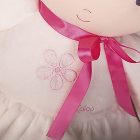 PERLE Tendresse Soft XL white and pink Doll Toy -By Kaloo Ottawa