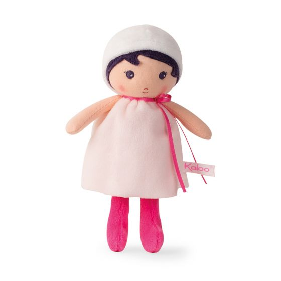 PERLE Tendresse Soft small white and pink Doll Toy -By Kaloo Vancouver