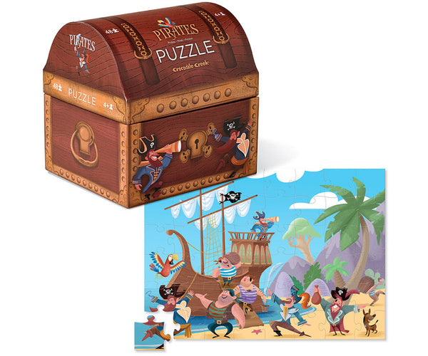 PIRATES TREASURE Puzzle-48 piece By CROCODILE CREEK - Bloxx Toys - Toronto Online Toys Store - 3