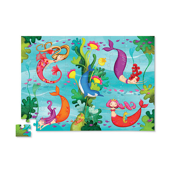 Puzzle Mermaids 72 Pieces By Crocodile Creek - BloxxToys