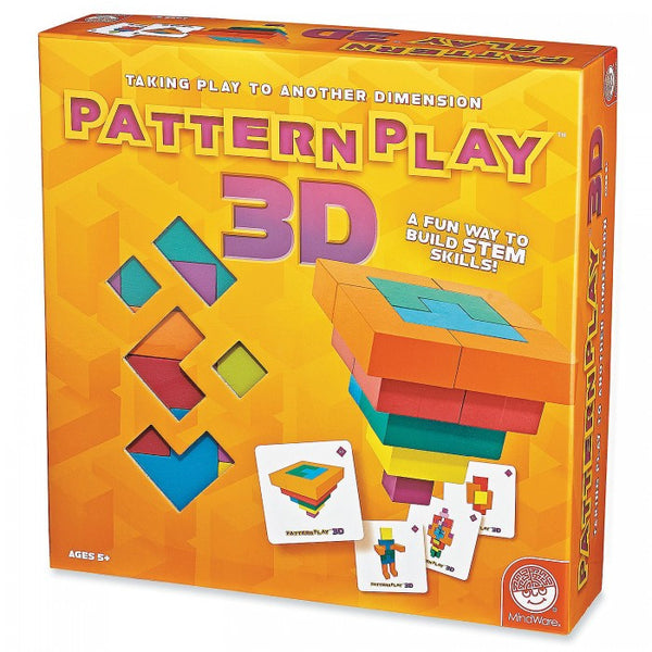 Pattern Play 3D Multi Shaped Wooden Blocks By MindWare - Bloxx Toys - Toronto Online Toys Store - 1