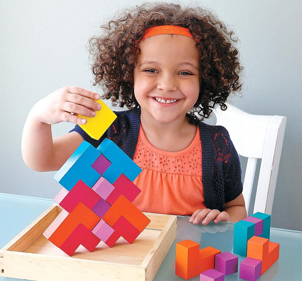 Pattern Play 3D Multi Shaped Wooden Blocks By MindWare - Bloxx Toys - Toronto Online Toys Store - 5
