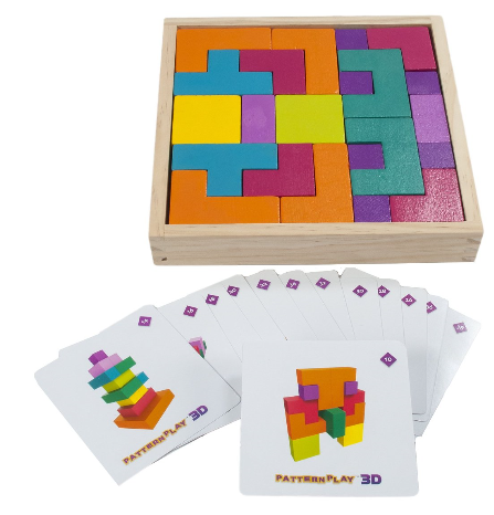 Pattern Play 3D Multi Shaped Wooden Blocks By MindWare - Bloxx Toys - Toronto Online Toys Store - 4