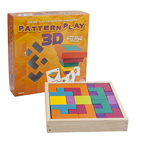 Pattern Play 3D Multi Shaped Wooden Blocks By MindWare - Bloxx Toys - Toronto Online Toys Store - 3