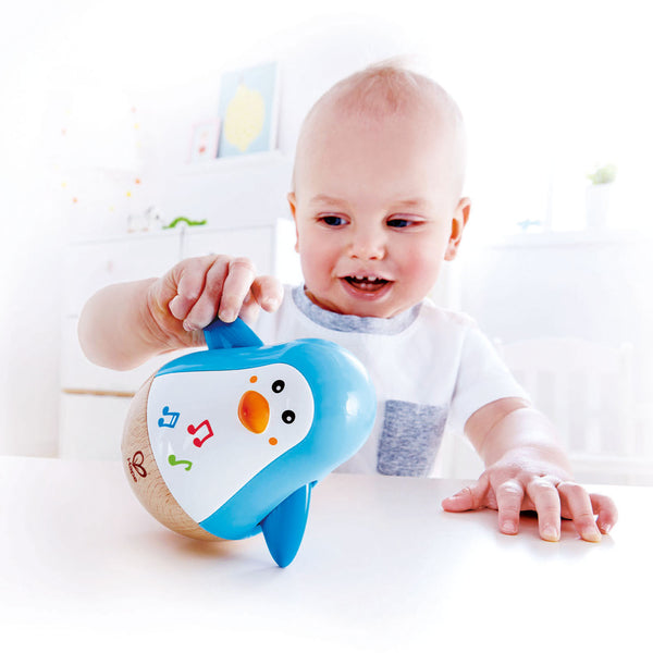 Penguin Musical Wobbler By Hape | Educational Toys Canada