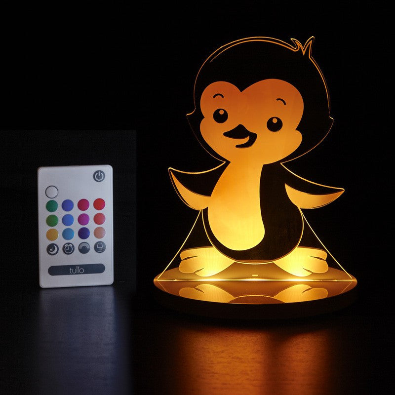 Penguin Multi Coloured LED Night Light By Tulio Dream Lights - Bloxx Toys - Toronto Online Toys Store - Canada