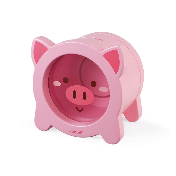 Piggy Money Box By Janod | Wooden Toys Canada