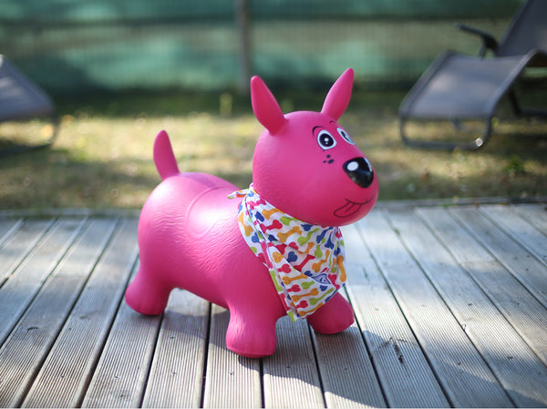 Pink Bouncing Dog By LUDI | Toys Canada | BloxxToys