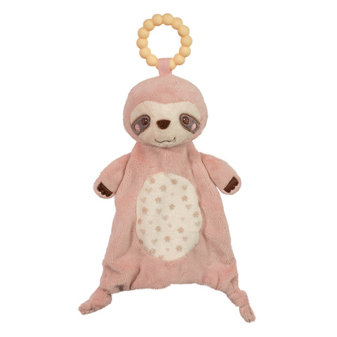 Pink Sloth Baby Toy Teether by Douglas | BloxxToys Canada