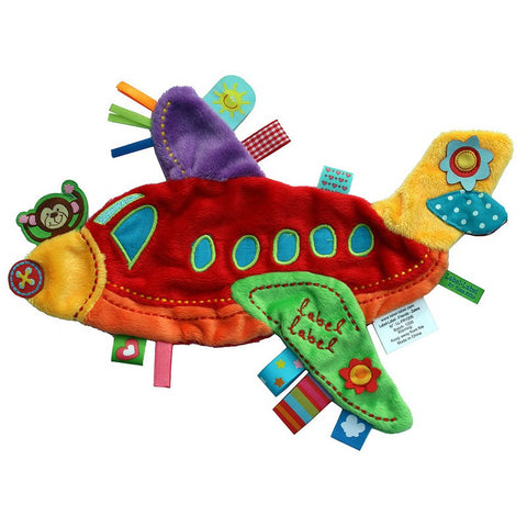Plane Sensory Blankets By Label Label - Bloxx Toys - Toronto Canada Online Toys Store Baby Shop Products