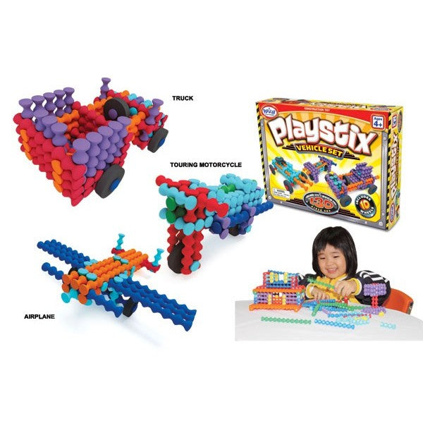 Playstix Vehicles Set 130 Pcs by Popular Playthings - Bloxx Toys - Toronto - Educational Online Toys Store Canada