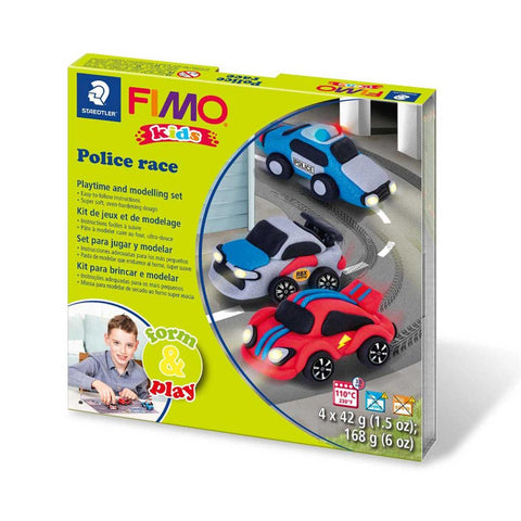 Police race Play Modelling Kit By Fimo - BloxxToys Canada