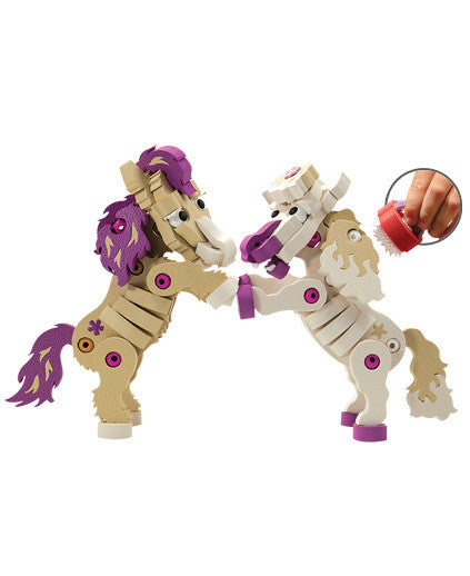 Ponies Foam Blocks By Bloco - Bloxx Toys - Toronto Online Toys Store - 3