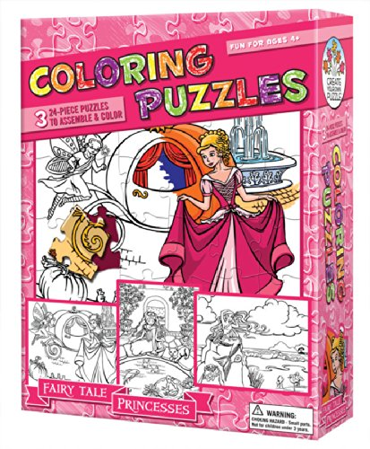 Princesses Coloring Puzzle  By Cobble Hill - Bloxx Toys - Toronto - Educational Online Toys Store Canada
