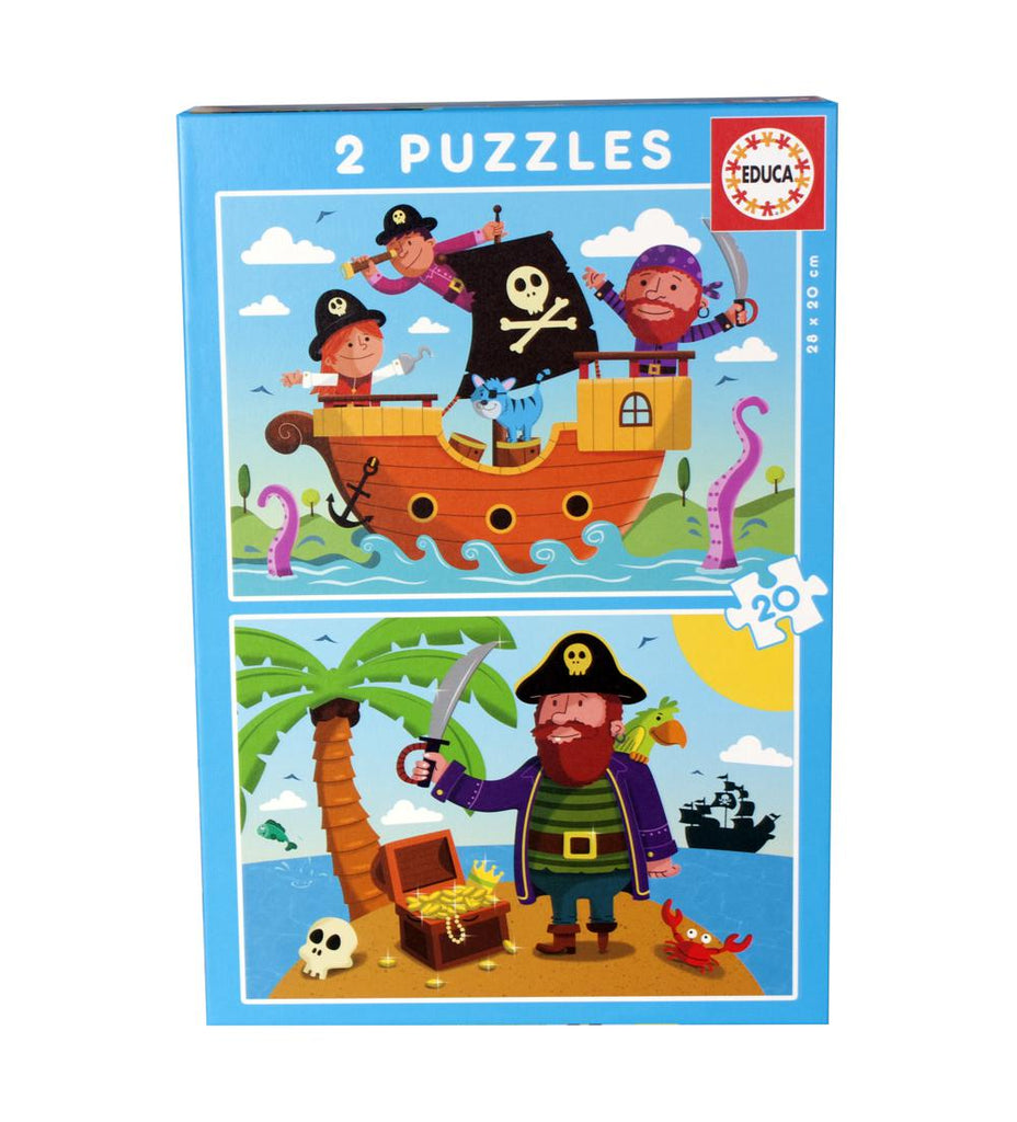 Puzzles Pirates 2x20 By Educa - Educational Puzzle for kids