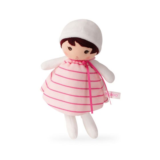 ROSE Tendresse Soft small white and pink Doll Toy -By Kaloo Regina