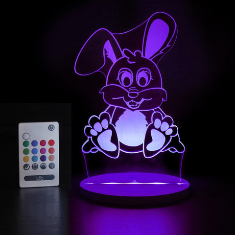 Rabbit Multi Coloured LED Night Light By Tulio Dream Lights - Bloxx Toys - Toronto Online Toys Store