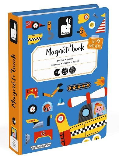 Racers educational magnetic puzzle/game Book By Janod