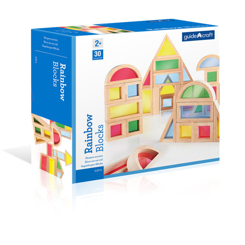 Rainbow Blocks By Guidecraft  - Bloxx Toys - Toronto Online Toys Store - Canada