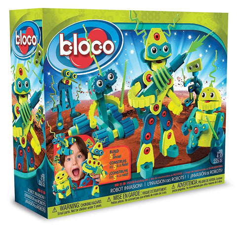 Roboto Invasion Foam Blocks By Bloco - Bloxx Toys - Toronto Online Toys Store - 1