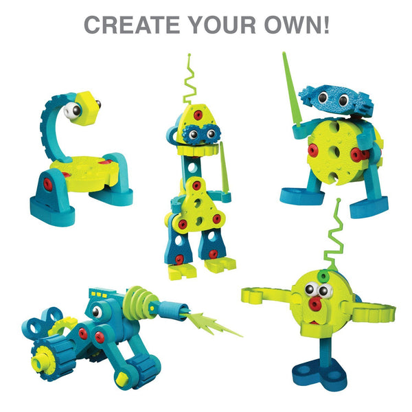 Roboto Invasion Foam Blocks By Bloco - Bloxx Toys - Toronto Online Toys Store - 4