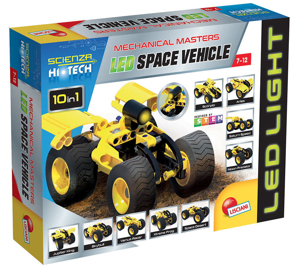 Science Hi-Tech 10in1 Space vehicle with LED By Lisciani