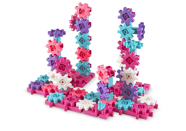 Learning Resources Gears! Gears! Gears!® Deluxe Building Set - Pink (Set of 100)