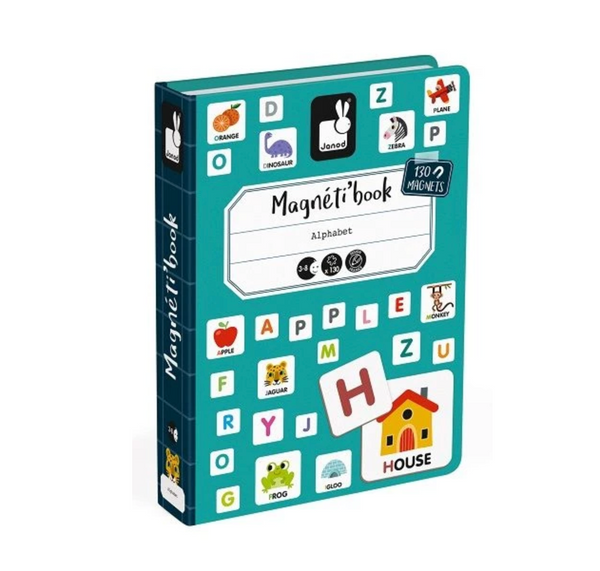 Alphabet - English educational magnetic puzzle/game Book By Janod