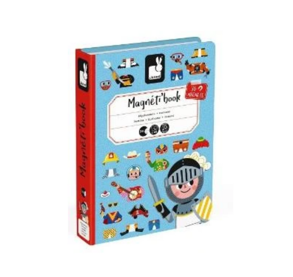MAGNETIBOOK Boy Costumes Educational Magnetic Puzzle/Game Book By Janod