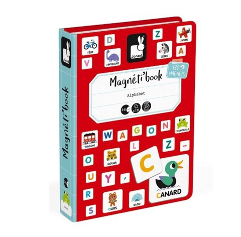 MAGNETIBOOK Alphabet - French (Francais) educational magnetic puzzle/game Book By Janod