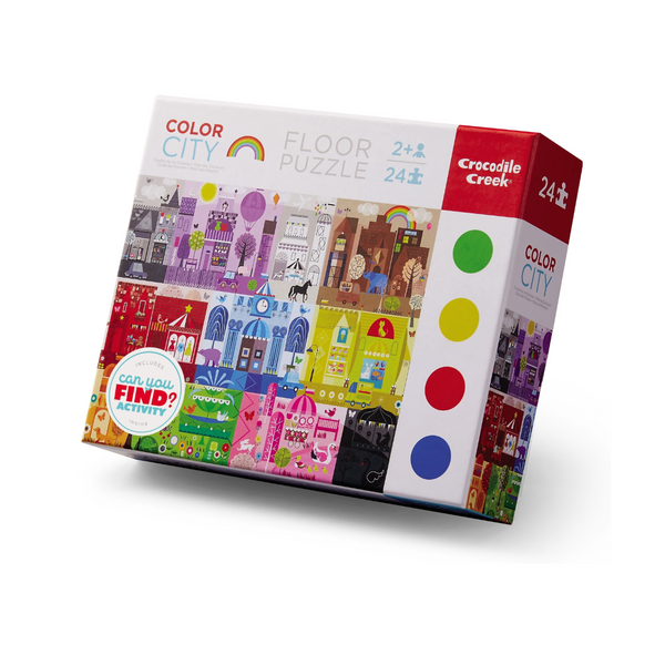 Color City Early Learning Puzzle-24 pcs By Crocodile Creek