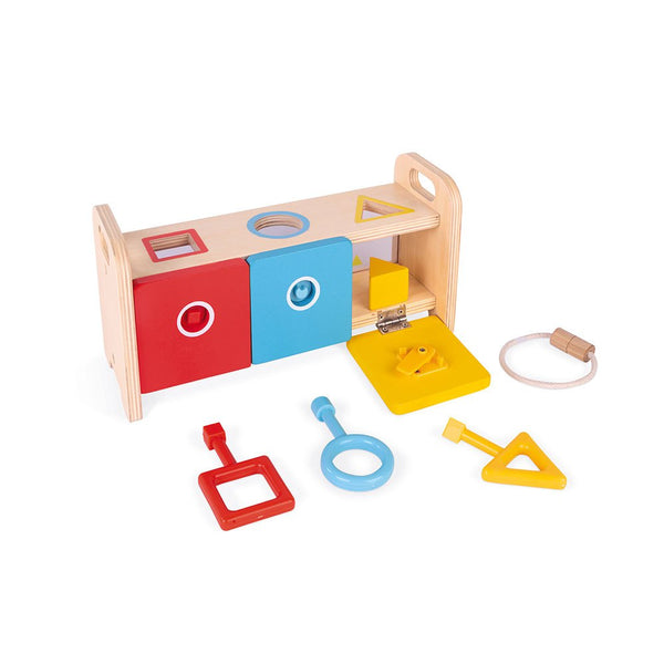 Shape Sorter with Keys By Janod | Educational Toy