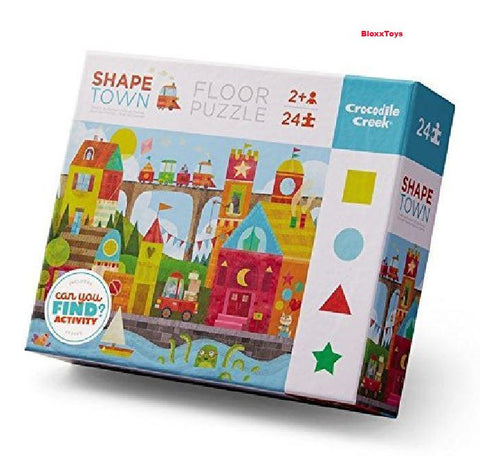 Shape Town Early Learning Puzzle-24 pcs By Crocodile Creek