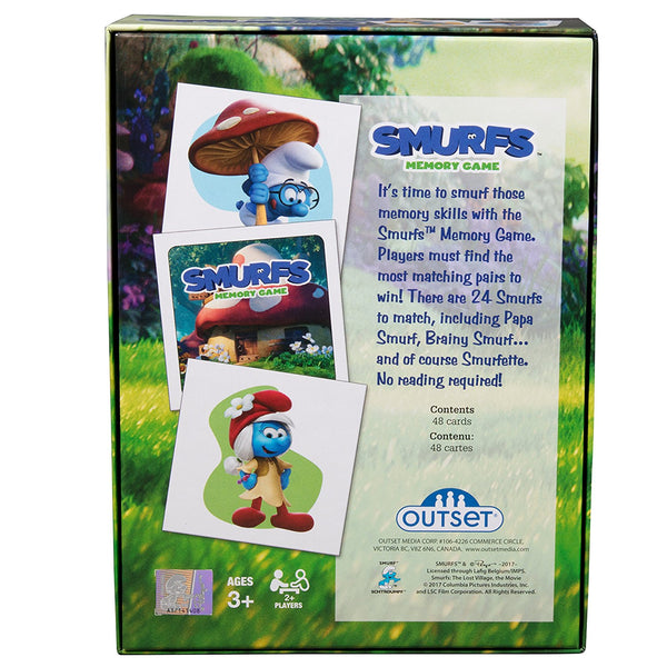 Smurfs Memory Game By Outset - Bloxx Toys - Toronto - Educational Online Toys Store Canada