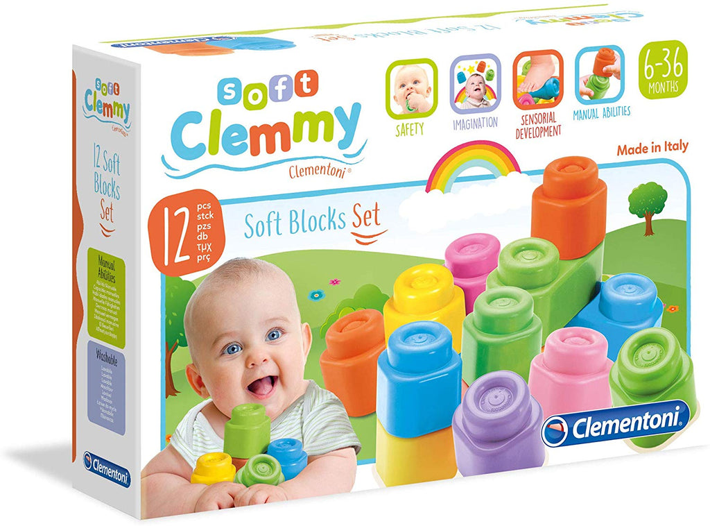 Soft Blocks Clemmy 12 Piece By Clementoni - BloxxToys
