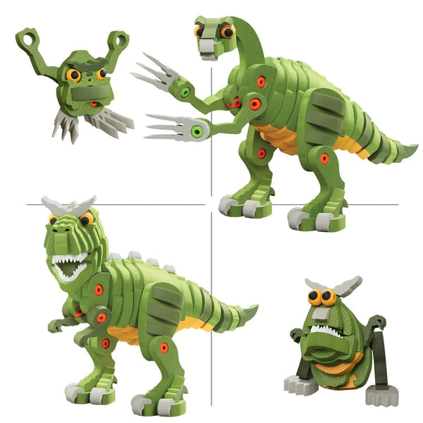 T-Rex & Triceratops Foam Blocks By Bloco - Bloxx Toys - Toronto Online Toys Store - 4