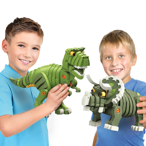 T-Rex & Triceratops Foam Blocks By Bloco - Bloxx Toys - Toronto Online Toys Store - 3