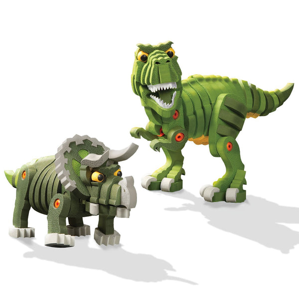 T-Rex & Triceratops Foam Blocks By Bloco - Bloxx Toys - Toronto Online Toys Store - 2
