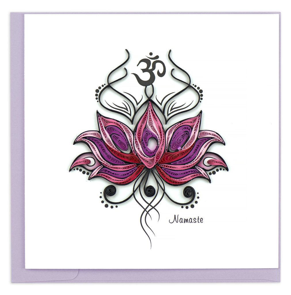 Namaste Greeting Card By Quilling Card