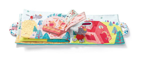 The three little pigs book - By Lilliputiens - BloxxToys Canada