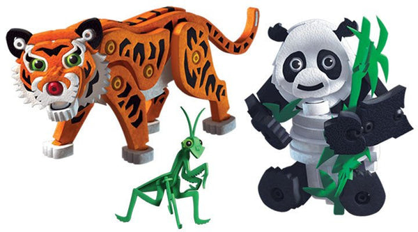 Tiger & Panda Foam Blocks By Bloco - Bloxx Toys - Toronto Online Toys Store - 2
